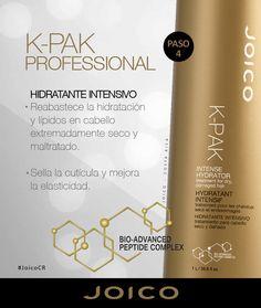 PASO 4. Hidratante intensivo k-pak. #JoicoCR #hairjoi #joico