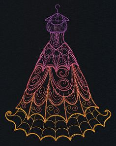 Spooky Delicate Dress | Urban Threads: Unique and Awesome Embroidery Designs