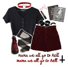"""""""MAMA // MCR"""" by auroralaufeyson ❤ liked on Polyvore featuring MAKE UP FOR EVER, Manic Panic NYC, Hourglass Cosmetics and Steidl"""