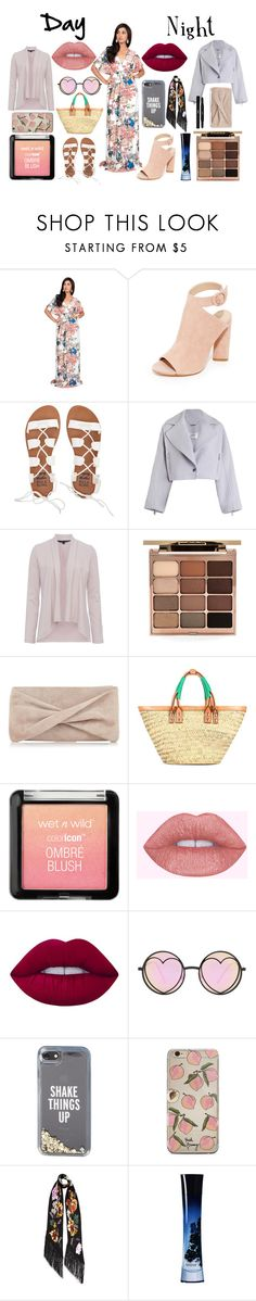 """""""Sweet-in Out Day and Night"""" by gcgme ❤ liked on Polyvore featuring Koh Koh, Kendall + Kylie, Billabong, Zimmermann, French Connection, Stila, Reiss, Balenciaga, Lime Crime and Betsey Johnson"""