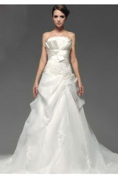 ウェディングドレス  ノースリーブ  A ライン 二次会 新婦 ドレス Halz0057