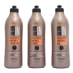 Deja el cabello 100% liso, con menos volumen y sin frizz. sin formol con BRAZILISS KERAT IN.