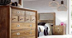Dormitorio colonial serie Merapi http://www.artesaniadecoracion.com/tienda/MUEBLES-SERIE-MERAPI.html