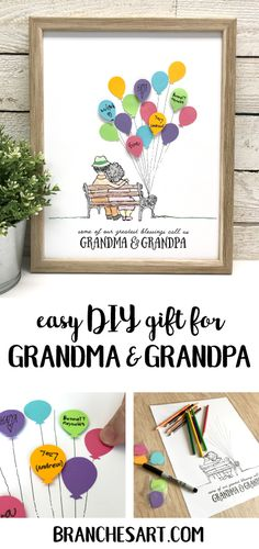 easy and cute diy gift for grandma grandpa diy gifts grandma grandmother gifts