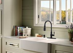 Light hues are great for a functional and multi-purpose kitchen. Design Center - Inspiration Gallery | Pfister Faucets #ProSourceFloors #KitchenandBath #Kitchen