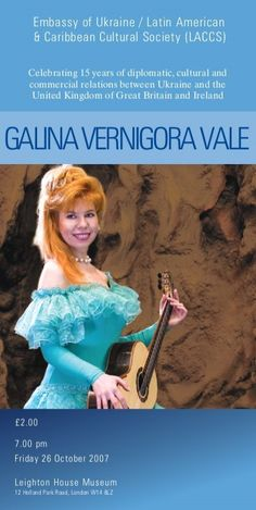 Galina Vale - Read more about galina, ukraine, vale, cultural, ukrainian and composer.