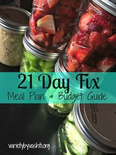 21 Day Fix Meal Plan + Budget Guide -- Almost done w/ Round 2, trying to get ideas for new meals
