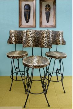 Inspirational Cow Print Counter Stools