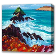 Box Canvas of 'Slea Head' by Eoin O'Connor, available in sizes X & X also available in multiple sizes as a framed print