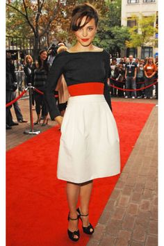 She arrives at the Toronto International Film Festival Married Life premiere wearing Gucci.