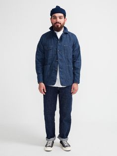 ENGINEERS JACKET INDIGO CANVAS - MEDIUM