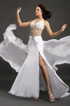 Create Your Own Dress For Prom Sleeveless Column Sheath Organza Ivory Dark Navy Prom For Cheap