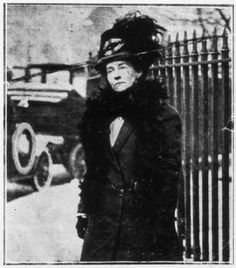 "Emily Wilding Davison (1872 - 1913) is remembered as the woman who died by ""throwing herself"" under the hoofs of Anmer, King George V's horse on June 4, 1913 at the Epsom Derby in support of the British suffragette movement. She was trampled and died a few days later, never having regained consciousness. She is is buried in St Mary's church yard,  Morpeth, in Northumberland, and her gravestone bears the WSPU slogan, ""Deeds not words."""