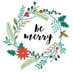 FREEBIE // BE MERRY - Oh So Lovely Blog