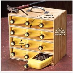 Save those old oil quarts! Create storage for all those nails and screws!