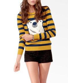 Striped Polar Bear Sweater from Forever 21. It's my absolute favorite!