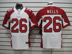 Chris Wells White Jersey, Nike Arizona Cardinals #26 Mens Elite NFL Jersey  ID:705110013  $23
