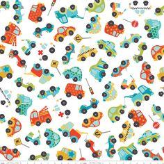Peak Hour fabric-adorable cars and trucks!