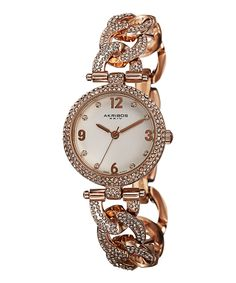 Rose  Diamond Twisted Link Pavé Bracelet Watch. I used to have one almost exactly like this!
