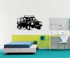 Land Rover Defender Wall Mural Vinyl Sticker
