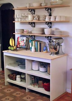 Something to think about in the kitchen above the low cabinet (if it fits!)