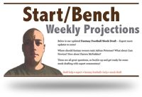 hardcore fantasy football start and bench advice; includes weekly fantasy football rankings