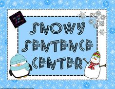 Winter Snowy Sentence Center (Freebie!) from Second Grade Smiles on TeachersNotebook.com -  (7 pages)  - My students have loved this winter themed sentence making center! Students are provided with the subject of each snowy sentence and must add their own predicate to complete it.