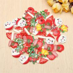 50PCS Mixed Resin Flatback Christmas Crafts Decoration Scrapbooking