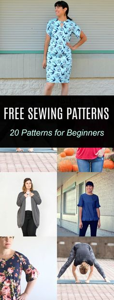 FREE PATTERN ALERT: 20 Sewing patterns for Beginners: Get access to 20 FREE SEWING PATTERNS for beginners online. You will find all details on how to print