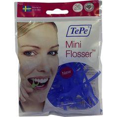 TEPE Mini Flosser:   Packungsinhalt: 36 St PZN: 09440568 Hersteller: TePe Mundhygiene Produkte Vertriebs-GmbH Preis: 2,66 EUR inkl. 19 %…
