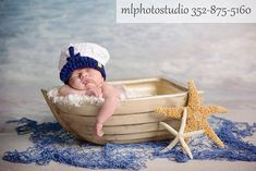 Sea Captain Marine Baby Boy Crochet Hat and Photography Prop All Sizes from Newborn to Adult on Etsy, 368,65 Kč