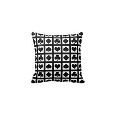 Deck Of Cards Pillows - Deck Of Cards Throw Pillows | Zazzle via Polyvore