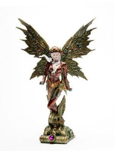 Steampunk Fairy With Robotic Wings statue