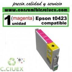 CARTUCHO MAGENTA COMPATIBLE EPSON T0423