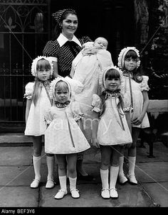 Actress Maureen Swanson and her five daughters