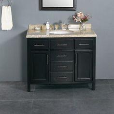 stylish modular wooden bathroom vanity. Ove Decors Milan 42\ Stylish Modular Wooden Bathroom Vanity M