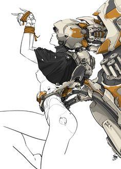 rhubarbes:MEDUSA by CYBE Mikołaj Piszczako on BehanceMore robots here.