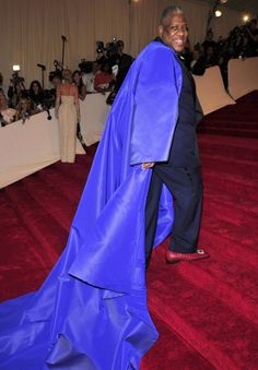 "André Leon Talley is honored in our September issue for his quirky personality and style. Here he is at the 2011 opening of ""Alexander McQueen: Savage Beauty"" at the Metropolitan Museum of Art."
