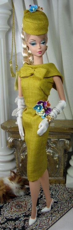 vintage chartreuse Barbie