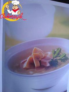 Resep Sup Jamur Sosis Makaroni, Aneka Sup Untuk  Anak, Club Masak
