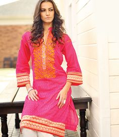 Orient Embroidered Lawn Kurti Collection 2015 OTL_109B