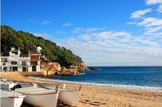 #Santa #Susanna #strand #zee #water #zand #boten #bootjes #zonvakantie #vakantie #Spanje #europa #zon #warm #reizen #travel #travelbird #Costa #Brava