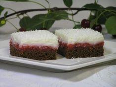 Ľadové višňové kocky Easy No Bake Desserts, Dessert Recipes, Pavlova, Main Dishes, Cheesecake, Deserts, Food And Drink, Cooking Recipes, Treats