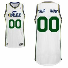 219f9ee4d adidas Utah Jazz Custom Authentic Home Jersey Mike would LOVE this! Nba  Basketball Teams