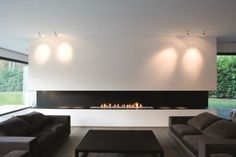 Most up-to-date No Cost open Fireplace Design Strategies Whether or not your house is with Aspen or California, there is not any question the particular comforting outcome with Fireplace Feature Wall, Fireplace Tv Wall, Open Fireplace, Fireplace Design, Fireplace Modern, Casa Kardashian, Living Room Designs, Living Room Decor, Veranda Design