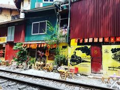 Our private guide brought us to this cute little cafe along the railway tracks where we enjoyed some Vietnamese drinks and chatted about local life. Hanoi Vietnam, Vietnam Travel, Times Square, Bring It On, Drinks, Life, Drinking, Vietnam Destinations