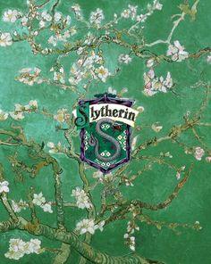 Hogwarts houses + Van Gogh's almond blossoms.
