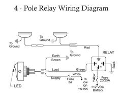 off road light wiring diagram automotive electronics rh pinterest com off road light bar wiring diagram LED Off-Road Light Bar