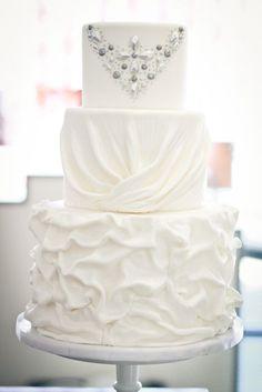 Inspired Wedding Dress Cake