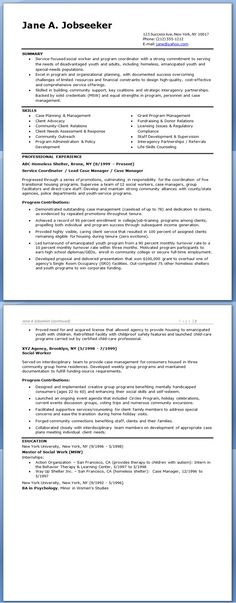 Social Worker Resume Template - This CV template gives you an idea - supervisory social worker sample resume
